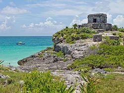 Tulum, overlooking the Caribbean