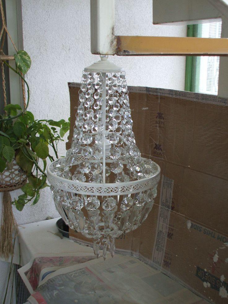 Grandma vintage lamp after restoring it