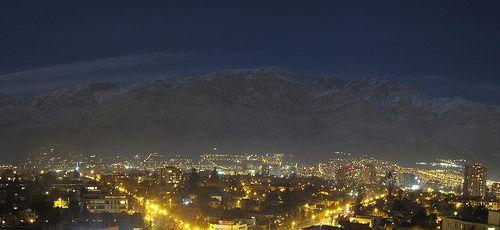 Cordillera llena de Luna, Ñuñoa, Santiago de Chile 12 de junio, 2014