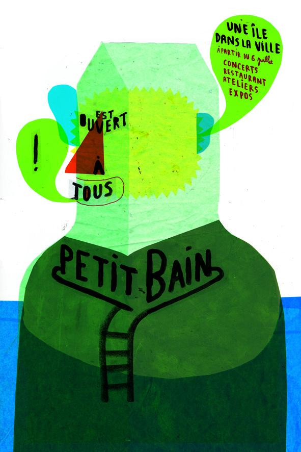 Bonnefrite - Affiche pour l'ouverture de Petit Bain