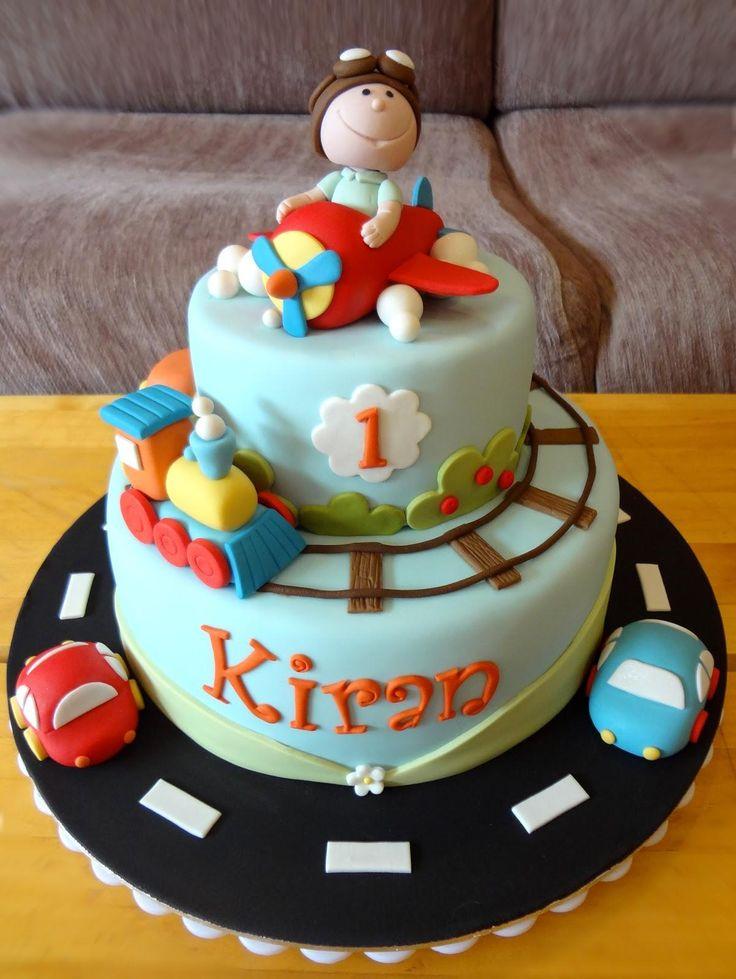 1st birthday cake for boy Pastel de cumpleaños, Tortas