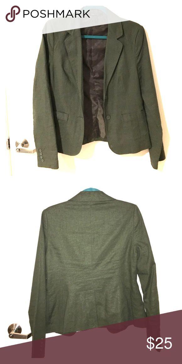 Army Green/olive Blazer Olive green/army green blazer from BCBG only worn a few times BCBGMaxAzria Jackets & Coats Blazers