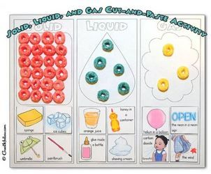 Solid liquid gas printable activity                                                                                                                                                     More