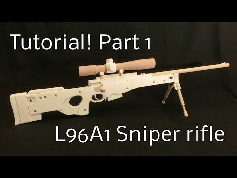 Tutorial! L96A1 Part 1 [rubber band gun] - YouTube