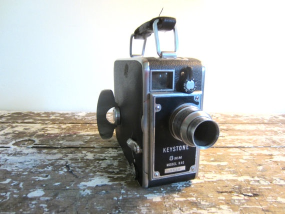 Vintage Movie Camera Keystone 8MM Model k40 Video Camera ...