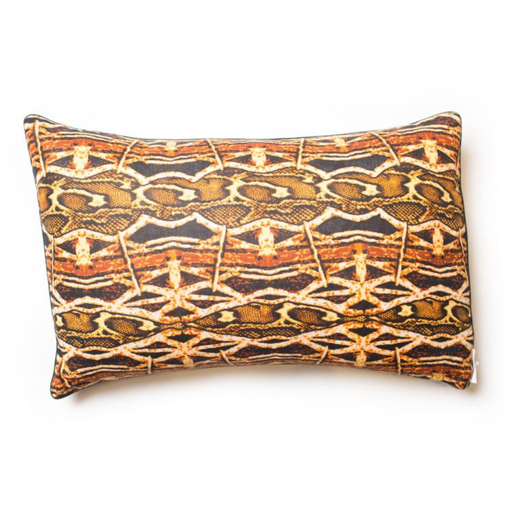 Margouillat Couture African Wax Print Python Cushion