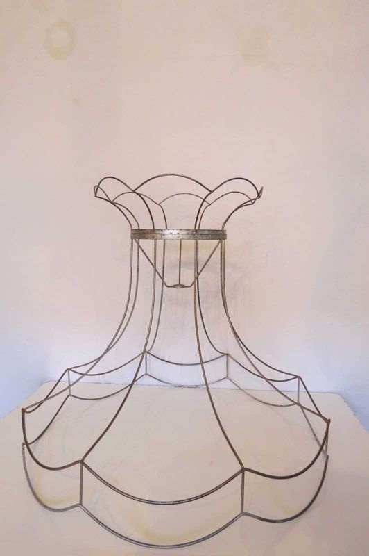 335 best wire chandeliers lamps inspiration images on vintage wire lamp shade frame greentooth Images