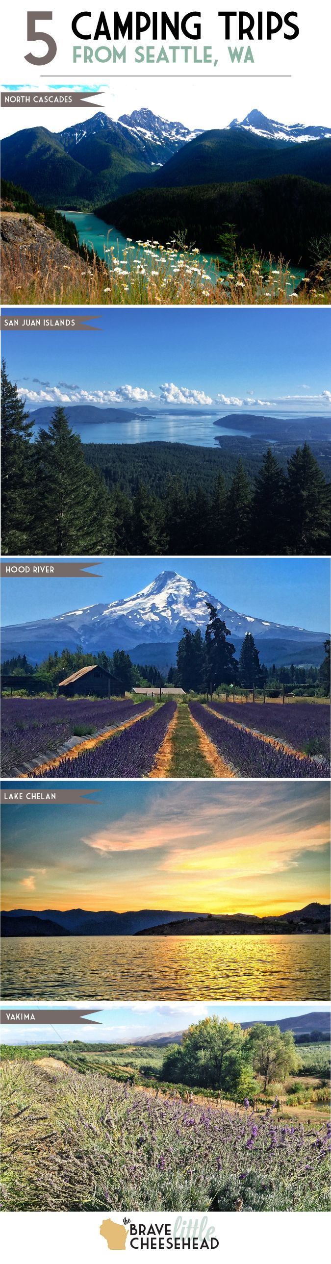 5 Camping Trips from Seattle, Washington | The Brave Little Cheesehead at bravelittlecheesehead.com