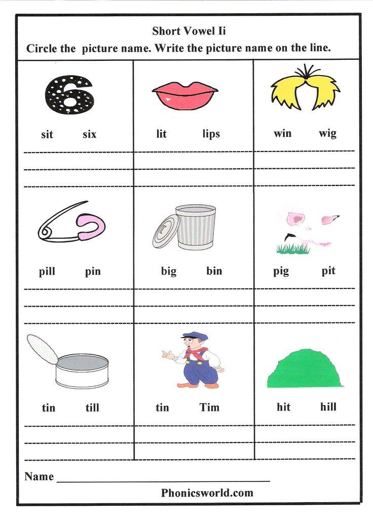 long vs short vowels pinterest first grade vowel sounds worksheets long best free printable. Black Bedroom Furniture Sets. Home Design Ideas