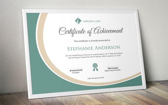 template de certificat