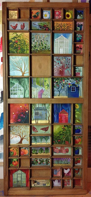 Kate Lycett - Allotments Printers Tray