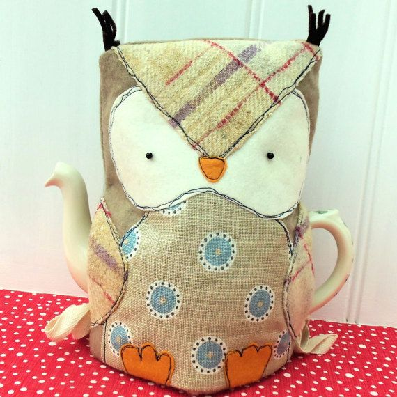 """There are lots of owl tea cosies to choose from - but this owl is a little bit different … I wanted to make him with more of a """"proper"""" bird shape,"""