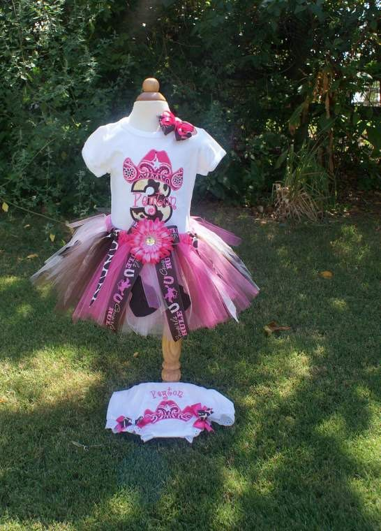 Cowgirl Birthday Outfit Shirt Tutu Bow and Bloomers by TutuKute, $69.50