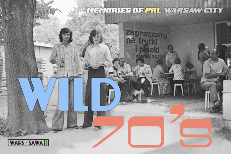 Wild 70's! Postcard by Wars Sawa Design, Warszawa, Warsaw, Memories of PRL.