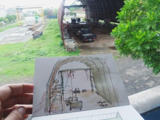 Workshop Office. Sketch on canson sketchbook by luthfiahra