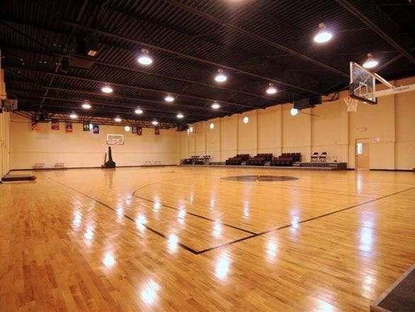 The indoor basketball court. I WILL be having one of these in my ...