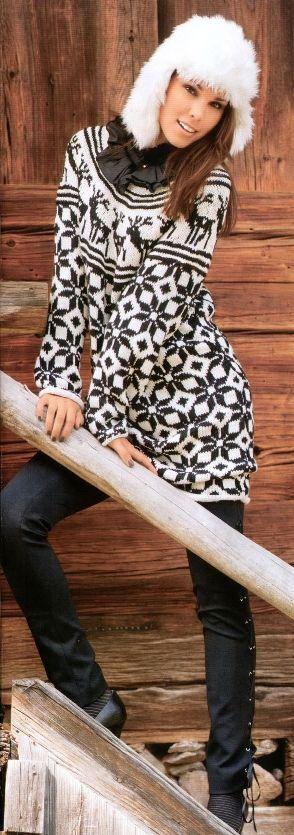 Жаккардовый пуловер с оленями — Три Руки ком