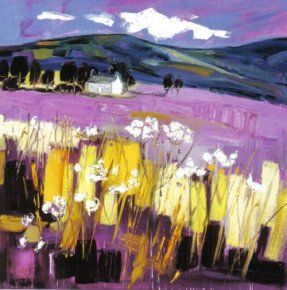 Cow Parsley near Tomintoul a limited edition print by Judith Bridgland