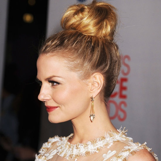 jennifer morrison, bird's nest updo.  Not as high up, but I actually love this silhouette...