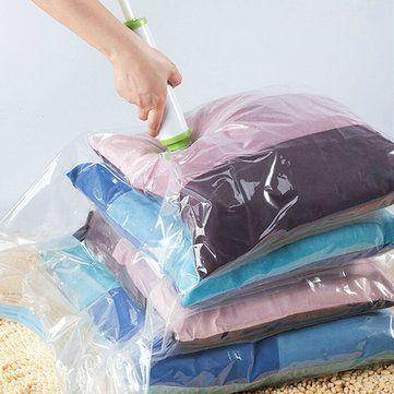 Só R$4.89 , compra KCASA Vácuo comprimir saco de armazenamento de vácuo saco economizar espaço selo selos roupas organizador titular de roupas na Banggood.com. Comprar moda Sacos de armazenamento online.