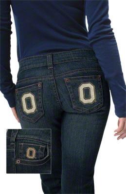 Ohio State Buckeyes Women's Denim Jeans - by Alyssa Milano