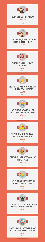 On the Creative Market Blog - 10 Awards Everyone Facing a Deadline Deserves