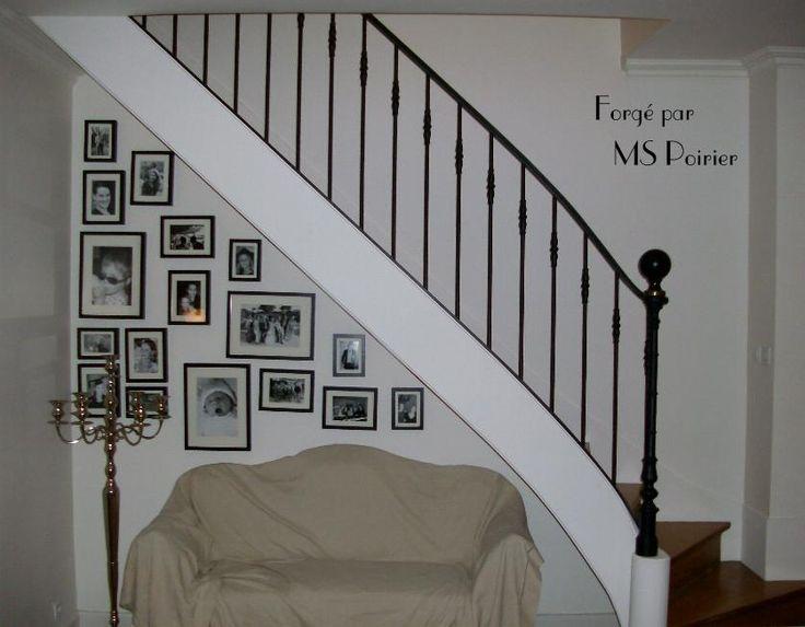 Rampe escalier avec barreaux bagués