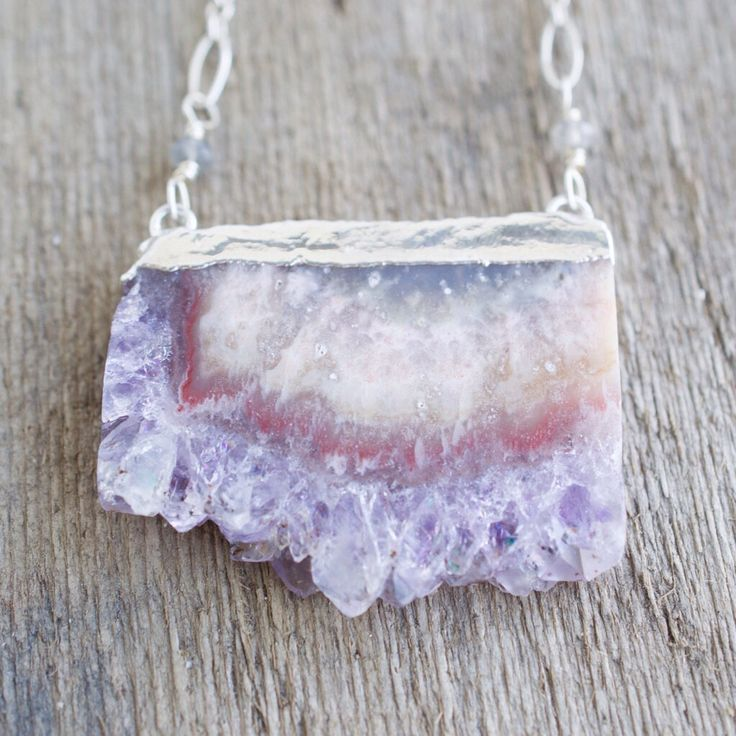 A personal favorite from my Etsy shop https://www.etsy.com/listing/227490877/amethyst-druzy-slice-sterling-silver