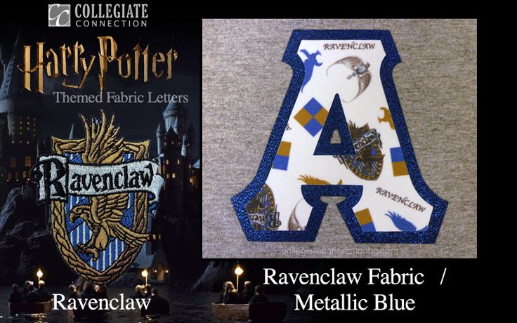 Ravenclaw - Themed Greek Fabric Letters: Harry Potter