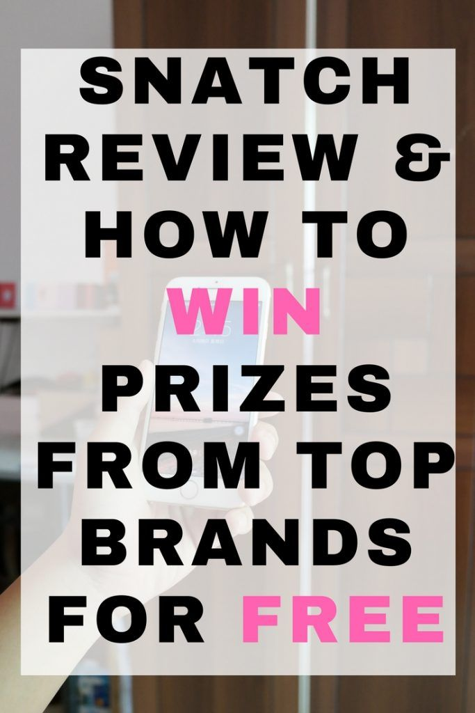 Snatch review & how to win prizes from top brands for free