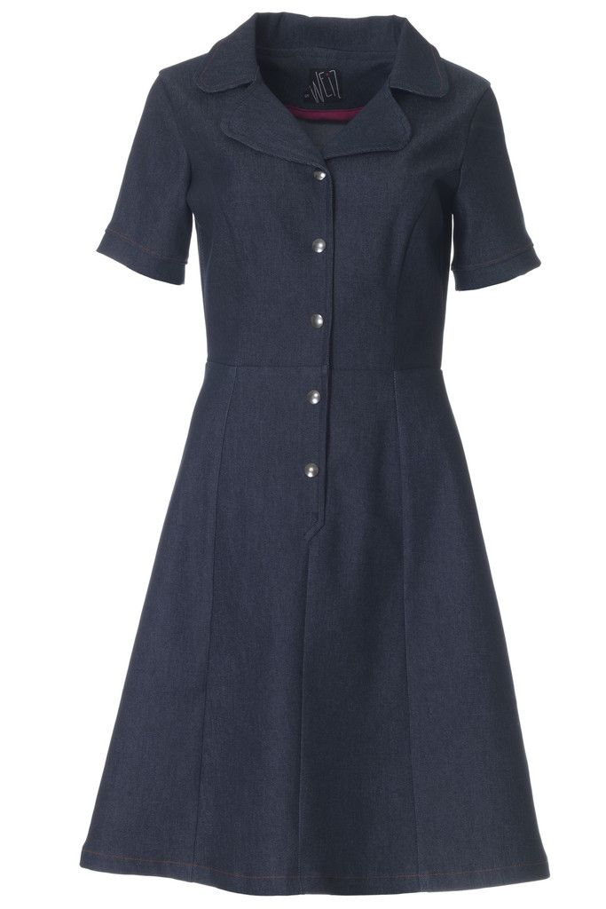 You will feel like a million bucks in this denim Loretta dress. It has a perfect fit for the hourglass shaped body.