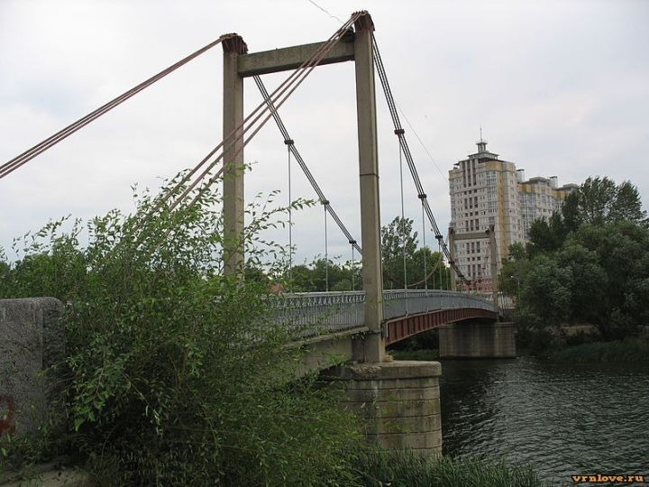 Висячий мост — история в Воронеже