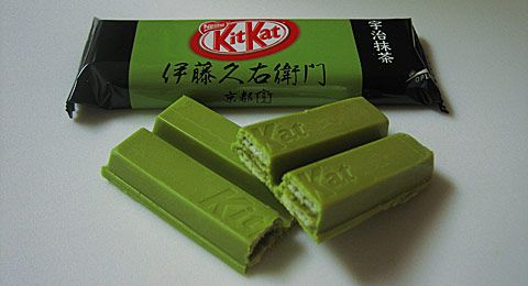 Green tea Kit Kat. It's pretty good~