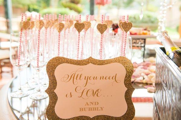 Bridal shower mimosa bar   Boyd Harris Photography