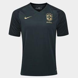 Camisa Nike Seleção Brasil III 17/18 s/nº - Torcedor - Verde+Amarelo