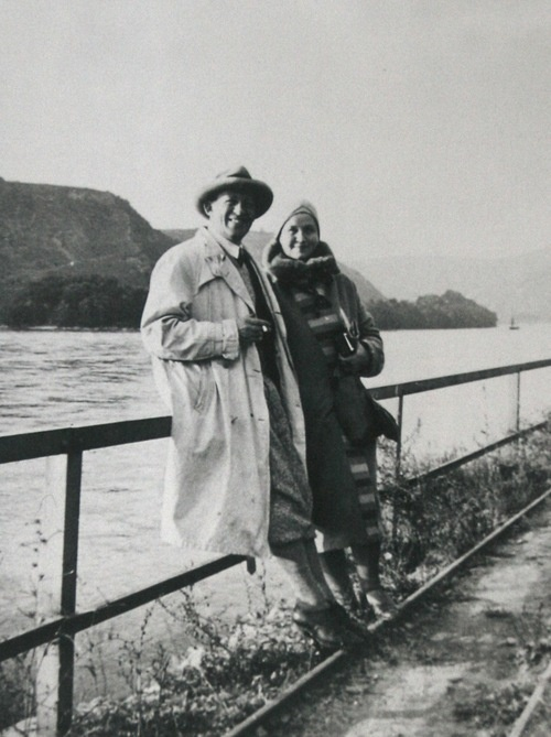 Aino and Alvar Aalto during a journey in mainland Europe, in early 1930