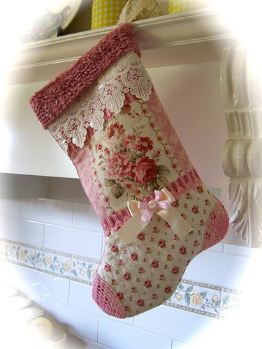 Shabby n chic christmas stocking