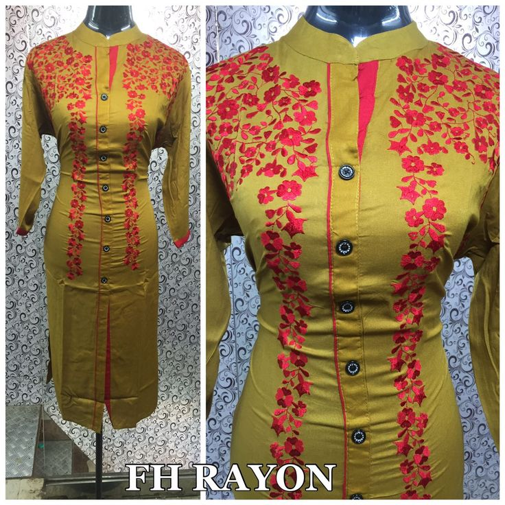 RAYON WITH EMBROIDERY  SIZE : 44 LENGTH : 45  PRICE : 799/-