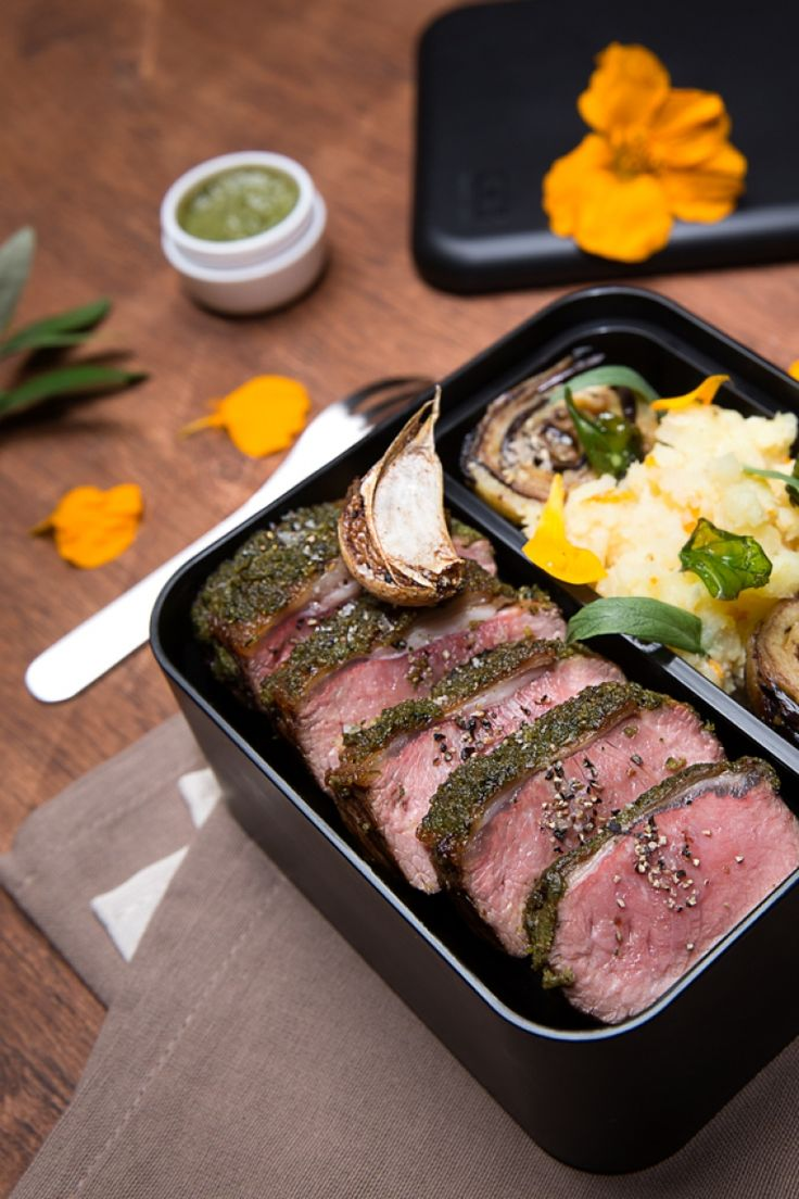"""Monbento   Broiled fillet of lamb with """"salsa verde"""""""
