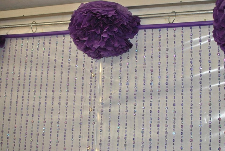 cortinas: Decor, Cortinas Ale, Pom Poms, Pom Table, Candy Bar, Inspiring Party, Party Idea S, Household