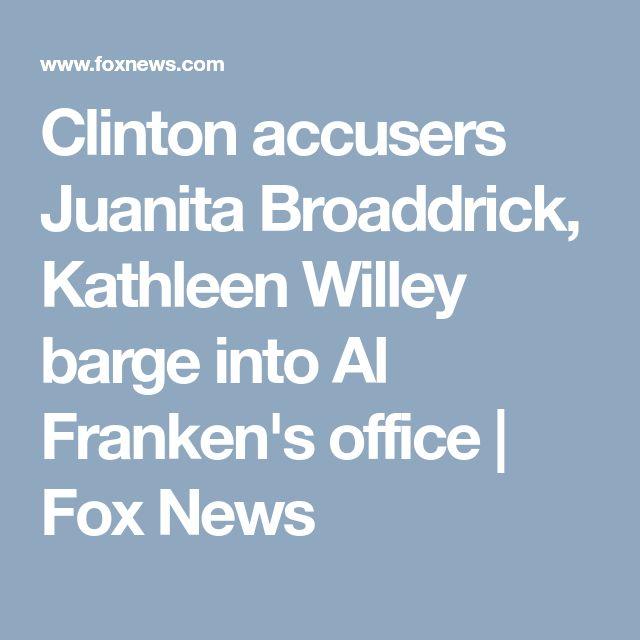 Clinton accusers Juanita Broaddrick, Kathleen Willey barge into Al Franken's office   Fox News