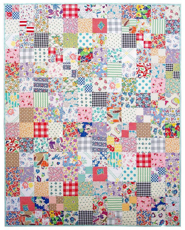 Red Pepper Quilts: 2015 Finished Quilts - Love the scattered four patches