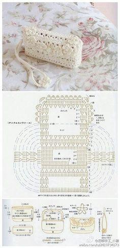 Crochet Graph pattern - bolsinha de mão