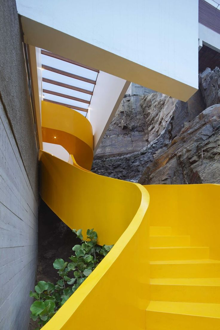 Martin Dulanto Arquitecto designed Casa Lapa with the basic idea in mind of minimising the impact in the natural setting #staircase