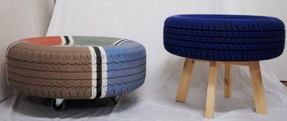 Mesas hechas con neum ticos piezas nicas hechas a mano for Mesas con neumaticos