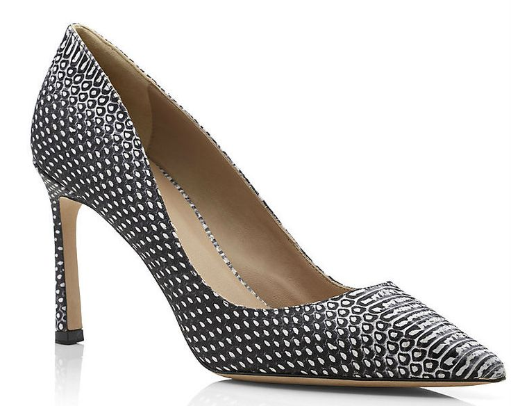 Kurt Geiger London Catherine Snake-effect Court This season the classic court gets an update in snake print. The pointed-toe shape and skinny mid-heel is a style classic yet the snake print adds an edge. A simple way to instantly freshen your smart casual wardrobe. https://www.facebook.com/pages/Fashion-Trends-and-Discounts/137797606390386