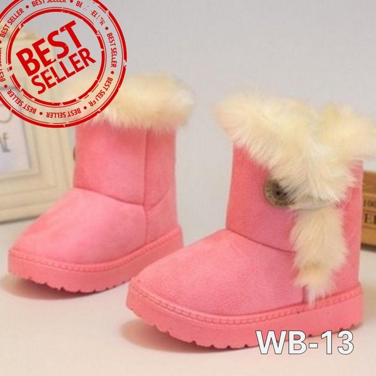 WB-13 BUTTONFUR SOFT PINK Size 22-34 Price : -Size 22-23 @175.000 -Size 27-29 @180.000 -Size 32-34 @190.000 Detail Size (insole) : -22 (13,5cm) -23 (14cm) -27 (16,5cm) -28 (17cm) -29 (18cm) -32 (19,5cm) -34 (20,5cm)  Untuk mendapatkan ukuran insole yg tepat, ukurlah panjang telapak kaki anak lalu ditambah 1,5cm. Bahan luar sepatu semacam beludru dan bulu2 halus seperti boneka. Bagian dalam hangat dari bahan wol.  Beratnya 500gram, 1kg muat 2psg, beli 2psg lebih hemat ongkir.  SMS/WA…