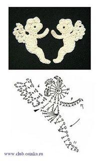 http://www.pinterest.com/monterrey3470/i-love-crochet/  Engel Motiv häkeln - crochet angel