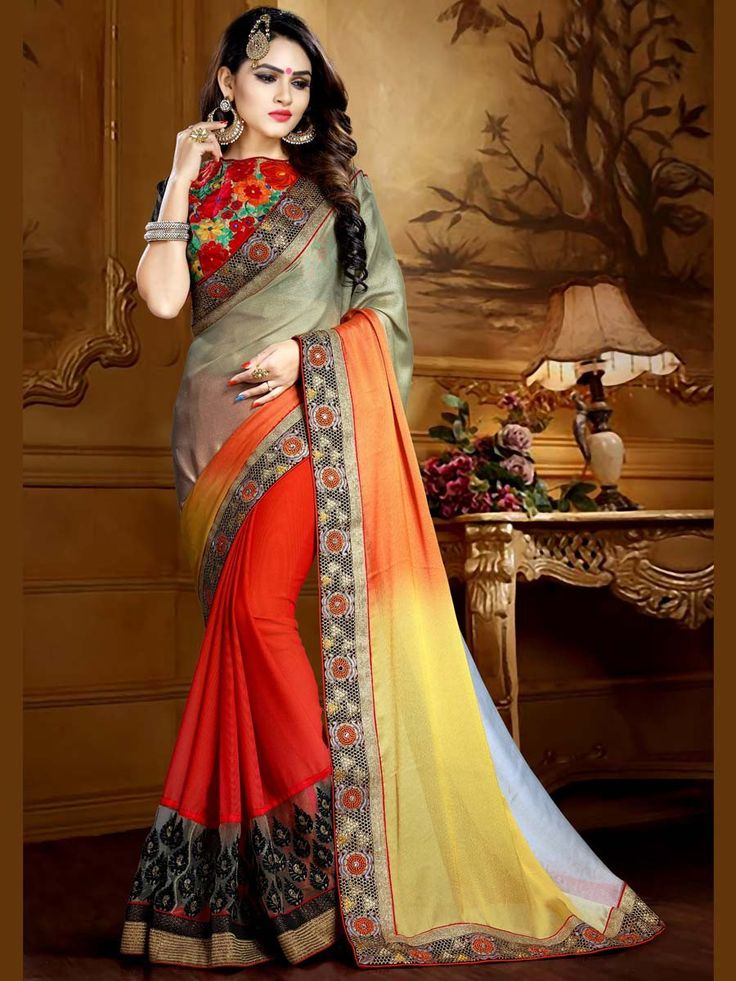 Spread your charm everywhere with this outfit.  Item Code: SCT11N http://www.bharatplaza.com/new-arrivals/sarees.html