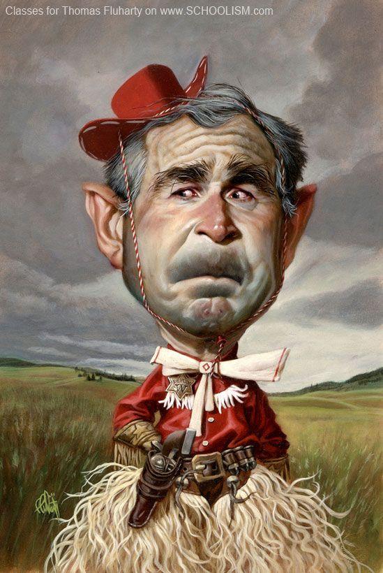 George Bush #art #Caricature #cool - www.remix-numerisation.fr - Rendez vos souvenirs durables ! - Sauvegarde - Transfert - Copie - Restauration de bande magnétique Audio - Numérisation vidéo VHS, VHSC, SVHSC, Video8, Hi8, Digital8, MiniDv et Laserdisc
